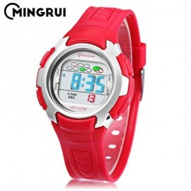 image of MINGRUI 8520 KIDS DIGITAL MOVT WATCH LED LIGHT DATE DAY CHRONOGRAPH DISPLAY 3ATM WRISTWATCH (RED) 0