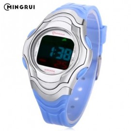 image of MINGRUI 8518 KIDS DIGITAL MOVT WATCH LED LIGHT DATE DAY CHRONOGRAPH DISPLAY 3ATM WRISTWATCH (MEDIUM BLUE) 0