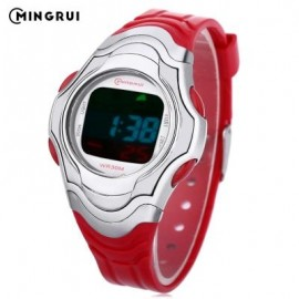 image of MINGRUI 8518 KIDS DIGITAL MOVT WATCH LED LIGHT DATE DAY CHRONOGRAPH DISPLAY 3ATM WRISTWATCH (RED) 0
