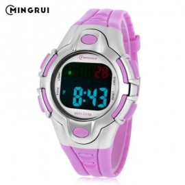 image of MINGRUI 8502 KIDS DIGITAL MOVT WATCH LED LIGHT DATE DAY CHRONOGRAPH DISPLAY 3ATM WRISTWATCH (PURPLE) 0