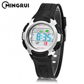 image of MINGRUI 8520 KIDS DIGITAL MOVT WATCH LED LIGHT DATE DAY CHRONOGRAPH DISPLAY 3ATM WRISTWATCH (BLACK) 0