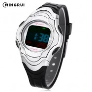 image of MINGRUI 8518 KIDS DIGITAL MOVT WATCH LED LIGHT DATE DAY CHRONOGRAPH DISPLAY 3ATM WRISTWATCH (BLACK) 0