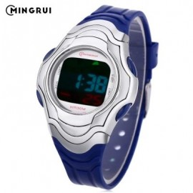 image of MINGRUI 8518 KIDS DIGITAL MOVT WATCH LED LIGHT DATE DAY CHRONOGRAPH DISPLAY 3ATM WRISTWATCH (BLUE) 0