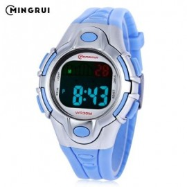 image of MINGRUI 8502 KIDS DIGITAL MOVT WATCH LED LIGHT DATE DAY CHRONOGRAPH DISPLAY 3ATM WRISTWATCH (BLUE) 0