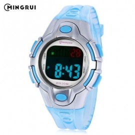 image of MINGRUI 8502 KIDS DIGITAL MOVT WATCH LED LIGHT DATE DAY CHRONOGRAPH DISPLAY 3ATM WRISTWATCH (LAKE BLUE) 0