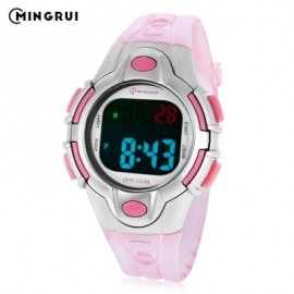 image of MINGRUI 8502 KIDS DIGITAL MOVT WATCH LED LIGHT DATE DAY CHRONOGRAPH DISPLAY 3ATM WRISTWATCH (PINK) 0