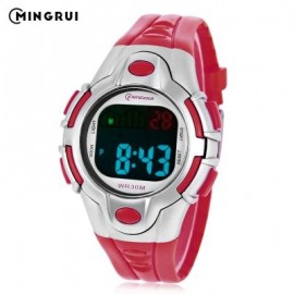 image of MINGRUI 8502 KIDS DIGITAL MOVT WATCH LED LIGHT DATE DAY CHRONOGRAPH DISPLAY 3ATM WRISTWATCH (RED) 0