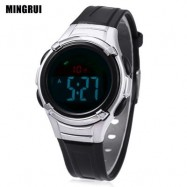 image of MINGRUI 8523 KIDS DIGITAL MOVT WATCH LED LIGHT DATE DAY CHRONOGRAPH DISPLAY 3ATM WRISTWATCH (BLACK) 0