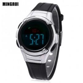 image of MINGRUI 8523 KIDS DIGITAL MOVT WATCH LED LIGHT DATE DAY CHRONOGRAPH DISPLAY 3ATM WRISTWATCH (BLACK) 0