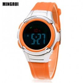 image of MINGRUI 8523 KIDS DIGITAL MOVT WATCH LED LIGHT DATE DAY CHRONOGRAPH DISPLAY 3ATM WRISTWATCH (SWEET ORANGE) 0