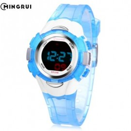 image of MINGRUI 8526013 KIDS DIGITAL MOVT WATCH LED LIGHT DATE DAY CHRONOGRAPH DISPLAY 3ATM WRISTWATCH (LAKE BLUE) 0