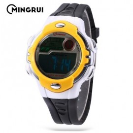 image of MINGRUI MR - 8532033 KIDS DIGITAL MOVT WATCH LED LIGHT DATE DAY CHRONOGRAPH 3ATM WRISTWATCH (YELLOW AND BLACK) 0