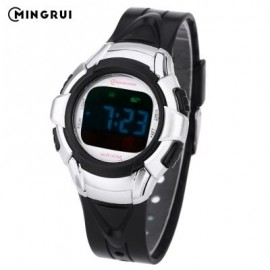image of MINGRUI 8512 KIDS DIGITAL MOVT WATCH LED LIGHT DATE DAY CHRONOGRAPH DISPLAY 3ATM WRISTWATCH (BLACK) 0
