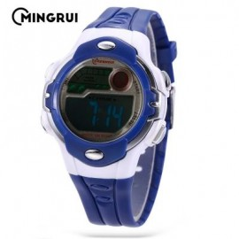 image of MINGRUI MR - 8532033 KIDS DIGITAL MOVT WATCH LED LIGHT DATE DAY CHRONOGRAPH 3ATM WRISTWATCH (AZURE) 0