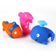 image of SOFT BLOCKS MARINE ANIMAL TOY 3PCS (COLORMIX) 0