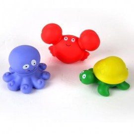 image of MARINE ANIMAL SHAPED SOFT BUILDING TOY 3PCS (COLORMIX) 0