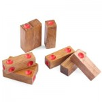 KIDS CLASSICAL WOODEN ASSEMBLING DICE INTELLIGENCE DEVELOPMENT PUZZLE TOY BRAIN TEASER (WOOD) -