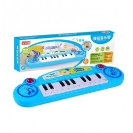 image of CHILDREN GLOW MUSIC ELECTRONIC INSTRUMENT TO SIMULATE PIANO TOY (BLUE) 0