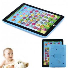 image of KIDS CHILDREN ENGLISH LEARNING PAD TOY EDUCATIONAL COMPUTER TABLET (BLUE) -