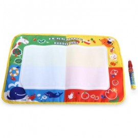 image of MAGIC WATER DRAWING WRITING MAT TOY WITH WATERCOLOR PEN FOR KIDS (COLORMIX) -