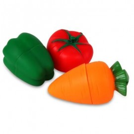 image of VEGETABLE SHAPED SOFT BUILDING TOY 3PCS (COLORMIX) 0