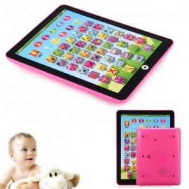 image of KIDS CHILDREN ENGLISH LEARNING PAD TOY EDUCATIONAL COMPUTER TABLET (PINK) -