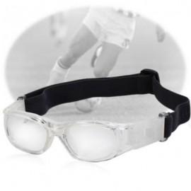 image of CHILDREN BASKETBALL FOOTBALL SPORTS EYEWEAR GOGGLES PC LENS PROTECTIVE EYE GLASSES (WHITE) -