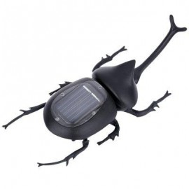 image of SOLAR POWER VIVID BEETLE ENERGY-SAVING PUZZLING TOY (BLACK) -