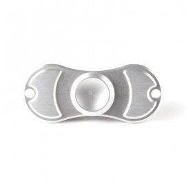 image of ALUMINUM ALLOY BEARING GYRO STYLE STRESS RELIEVER PRESSURE REDUCING TOY FOR OFFICE WORKER (SILVER) -