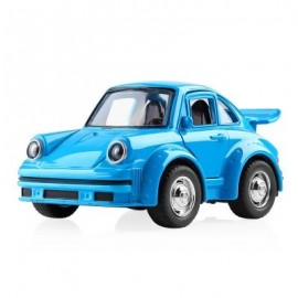 image of 1:38 ALLOY CAR PULL BACK DIECAST MODEL TOY SOUND LIGHT COLLECTION BRINQUEDOS CAR VEHICLE TOYS FOR BOYS CHILDREN (BLUE) 1PC