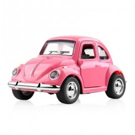 image of 1:38 ALLOY CAR PULL BACK DIECAST MODEL TOY SOUND LIGHT COLLECTION BRINQUEDOS CAR VEHICLE TOYS FOR BOYS CHILDREN (PINK) 1PC