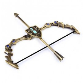 image of POPULAR GAME LOL ASHE THE FROST ARCHER ARROW BOW MODEL TOY DOLL SET CLASSIC COLLECTION DECORATION (GOLDEN) -