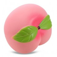 image of SQUISHY PU SPONGE SLOW RISING SIMULATE PEACH SQUEEZE TOY (COLORMIX) -