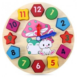 image of EDUCATIONAL TOY WITH CARTOON PATTERN DIGITAL BLOCKS CLOCK FOR BABY (COLORMIX) -