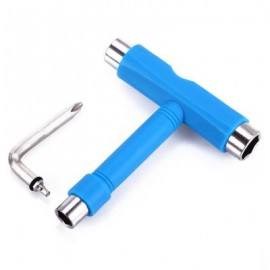 image of SKATEBOARD TOOL ALL IN ONE SCREWDRIVER SOCKET MULTIFUNCTION SKATE T-TOOL (BLUE) 11 x 10 x 2.2 cm