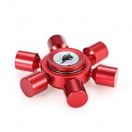 image of KELIMA ALUMINUM ALLOY ADHD FIDGET HAND SPINNER RUDDER SHAPE (RED) -