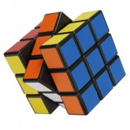 image of CHILDREN PUZZLE TOY 5.7CM HIGH-QUALITY SMOOTH THREE-ORDER RUBIK CUBE (BLACK) 0