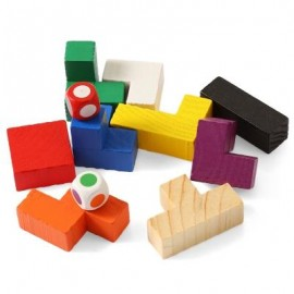 image of COLORFUL PUZZLE EDUCATIONAL WOODEN INTERLOCK TOY NEW YEAR PRESENT (COLORMIX) -