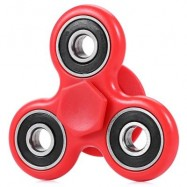 image of FIDGET SPINNER STRESS RELIEVER PRESSURE REDUCING TOY (RED) -