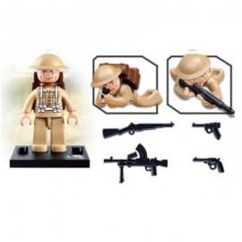 image of SLUBAN BUILDING BLOCKS EDUCATIONAL KIDS TOY ARMY SET 1PC (ARMYGREEN) 0