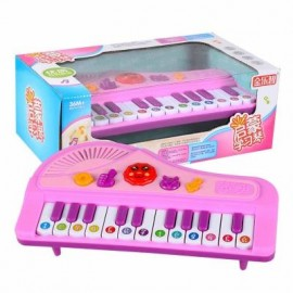image of AN ELECTRONIC CARTOON PIANO TOY FOR CHILDREN (PINK) 0