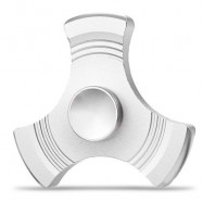 image of THREE-BLADE GYRO STRESS RELIEVER PRESSURE REDUCING TOY FOR OFFICE WORKER (SILVER) -