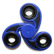image of STRESS RELIEVER TRI-BAR FINGER GYRO HAND SPINNER (BLUE) -