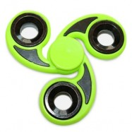 image of STRESS RELIEVER TRI-BAR FINGER GYRO HAND SPINNER (GREEN) -