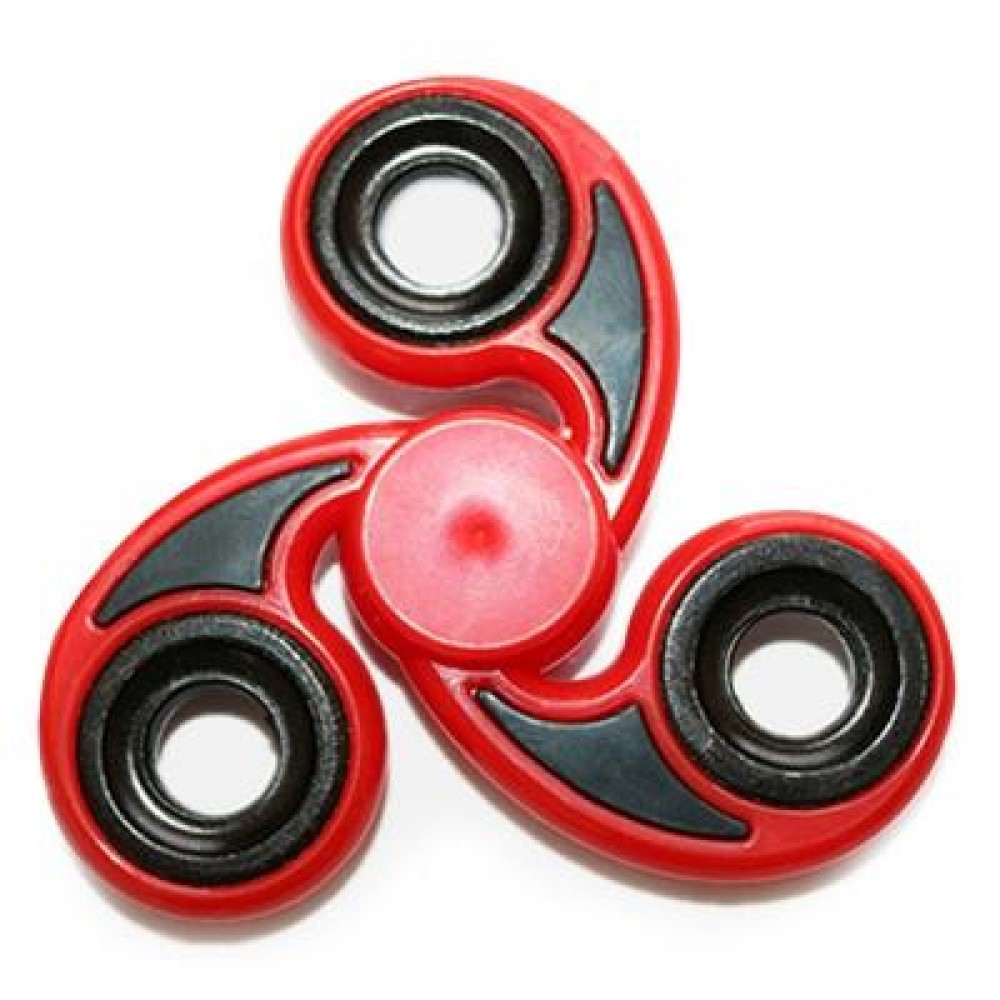 STRESS RELIEVER TRI-BAR FINGER GYRO HAND SPINNER (RED) -