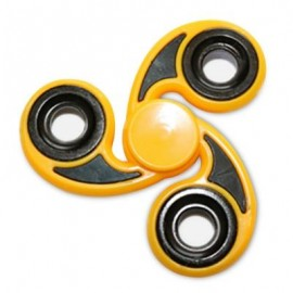 image of STRESS RELIEVER TRI-BAR FINGER GYRO HAND SPINNER (YELLOW) -