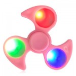 FIDDLE TOY FIDGET SPINNER WITH COLORFUL FLASHING LED LIGHTS (PINK) -