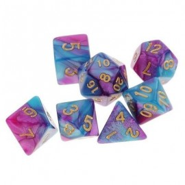 image of DIFFERENT POLYHEDRAL 7PCS (MULTI-A) 0