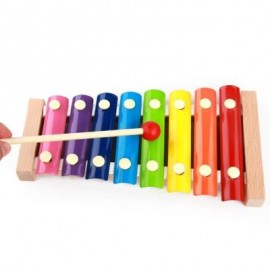 image of MOTRENT WOODEN 8 NOTES XYLOPHONE FIRST MUSICAL INSTRUMENT FOR CHILDREN, PORTABLE MUSIC TOYS FOR KIDS BABY (COLORMIX) 0