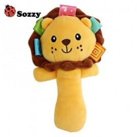 image of SOZZY CUTE CARTOON PLUSH BABY HANDBELL TOY (COLORMIX) ELEPHANT